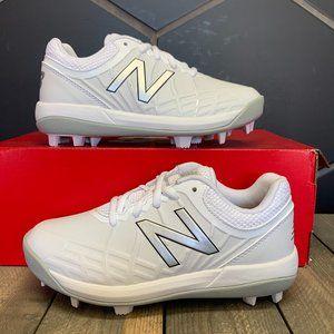 New Balance 440 Baseball Cleats White Silver